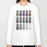 pineapples Long Sleeve T-shirts featuring Pineapples by Hinterlund