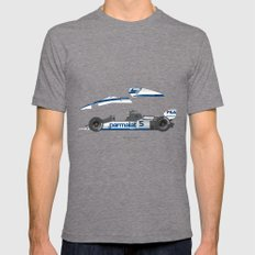 Outline Series N.º6, Nelson Piquet, Brabham BT-52 BMW, 1983 LARGE Tri-Grey Mens Fitted Tee