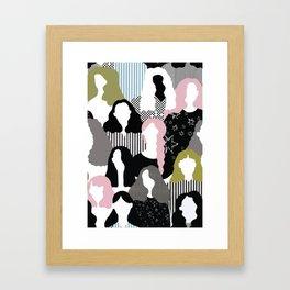 GIRL GANG Framed Art Print