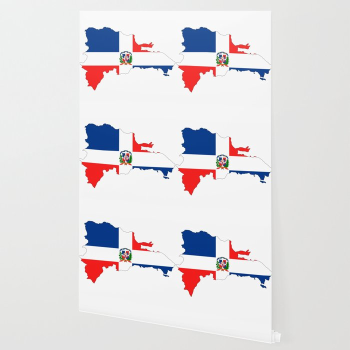 dominican republic flag map Wallpaper by tony4urban | Society6 on