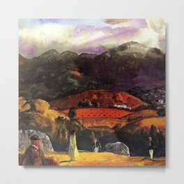 Mountain Valley Golf Course, California by George Wesley Bellows Metal Print