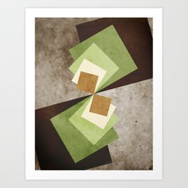 Curvature of a Square Art Print
