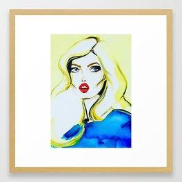 Georgia May Jagger Framed Art Print