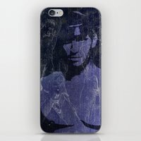 leather iPhone & iPod Skins featuring Leather by Azure Cricket