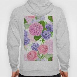 Watercolor floral pattern Hoody