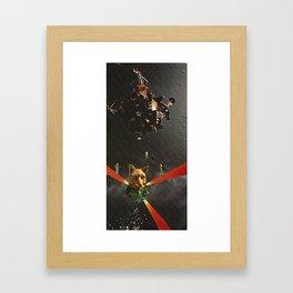 Space Fox Framed Art Print