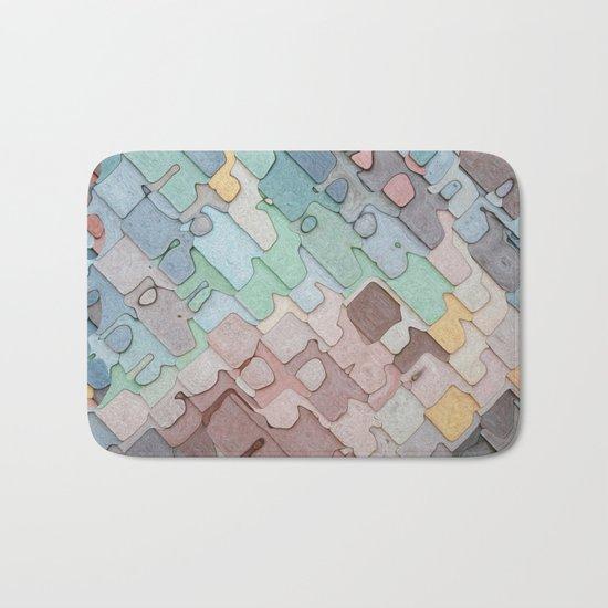 Colorful Layers Pattern Bath Mat