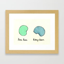 Kitty Bean Framed Art Print