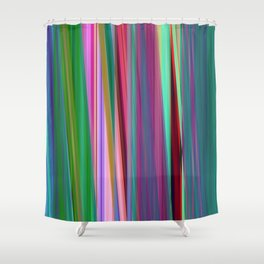 fall stripes Shower Curtain