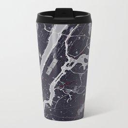 New York City Monochrome Metal Travel Mug