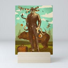 THE SNAKE WRANGLER Mini Art Print