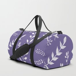 Ultra Violet Leaves Pattern #2 #drawing #decor #art #society6 Duffle Bag