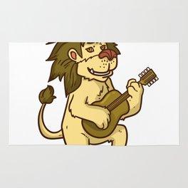 Guitar Lion Rug