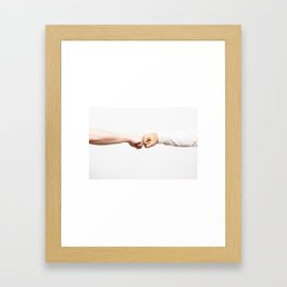 Fist Bumb Greeting Motivation Business High Five Framed Art Print