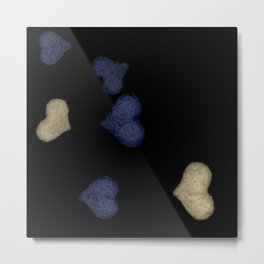 felted hearts Metal Print