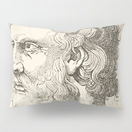 Vintage Plato The Philosopher Illustration Pillow Sham