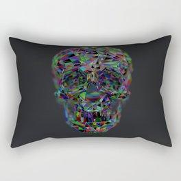 Skull Low-Poly Color Rectangular Pillow