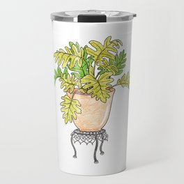 Philodendron Houseplant Travel Mug