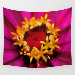 Painted Zinnia Wall Tapestry