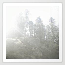 in a haze. Art Print