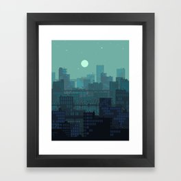 Midnight Blues Framed Art Print