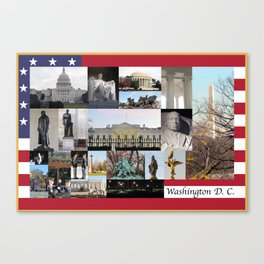 Washinton DC Collage Canvas Print