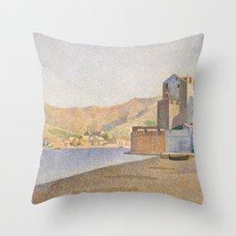 The Town Beach, Collioure, opus 165 Throw Pillow