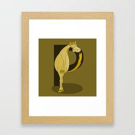Pony Monogram Letter P Framed Art Print