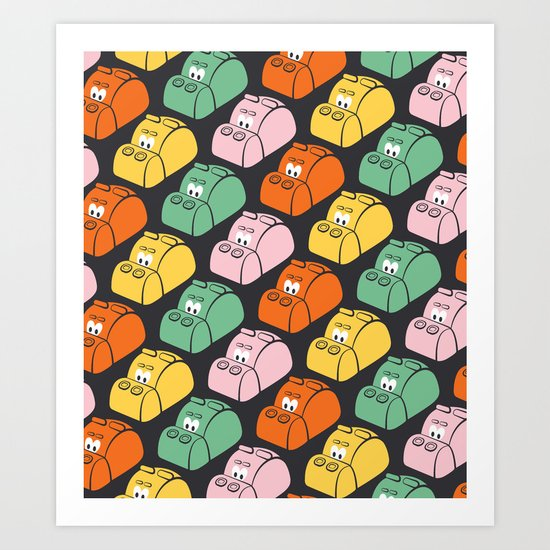 Hungry Hungry Pattern Art Print
