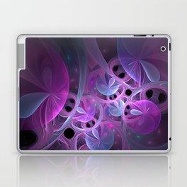 Luminous Abstract Fractal Art Pink And Blue Laptop & iPad Skin