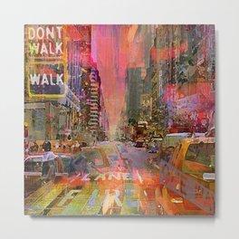 traffic jam pink Metal Print