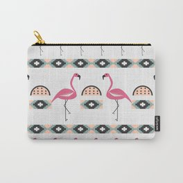 Summer decor with flamingo birds Carry-All Pouch