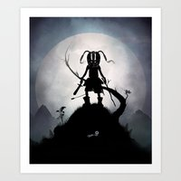 skyrim Art Prints featuring Skyrim Kid by Andy Fairhurst Art