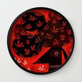 FLOWERY POMPADOUR Wall Clock