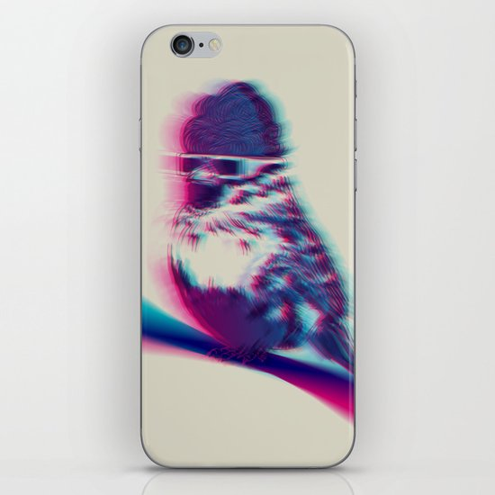 Bird Hair Day iPhone & iPod Skin