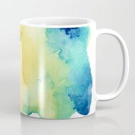 Teal and Gold Coffee Mug