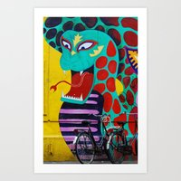 amsterdam Art Prints featuring Amsterdam by Laíz Jacon