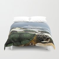 turtles Duvet Covers featuring Turtles by nicky2342