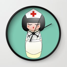 Kokeshi Nurse Wall Clock