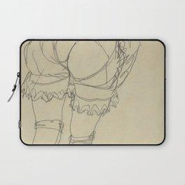 "Egon Schiele ""Girl Bending Forward, Back View"" Laptop Sleeve"
