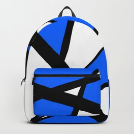 China Blue Geometric Triangle Abstract Backpack