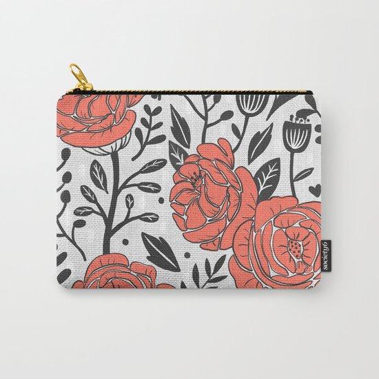 Orange Garden Carry-All Pouch