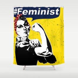 Rosie the Riveter B&W | Feminist Shower Curtain