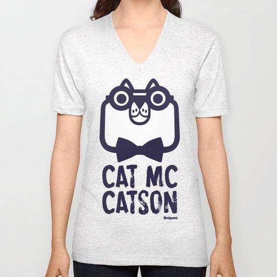 Cat Mc Catson Unisex V-Neck