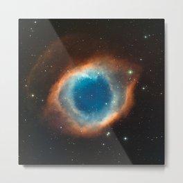 The Helix Nebula Space Photo Metal Print