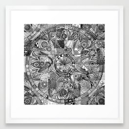 Mandala 5 Framed Art Print