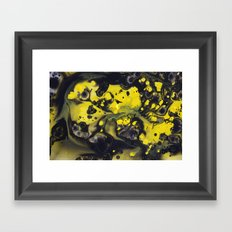 Abstract photography | Pop Art | Modern Home Decor | Yellow and Black Framed Art Print