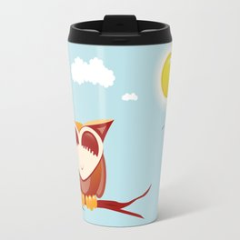 Owl alseep Travel Mug