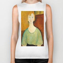 "Amedeo Modigliani ""Girl in a green blouse"" Biker Tank"