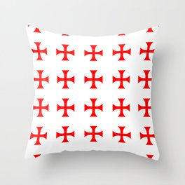 Cross pattée- crusades, templar,patty,templier Throw Pillow